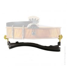 KUN-collapsible-full-size-Violin-Shoulder-Rest-tail-view-on-colour-violin